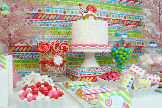 tracey created a candy christmas party