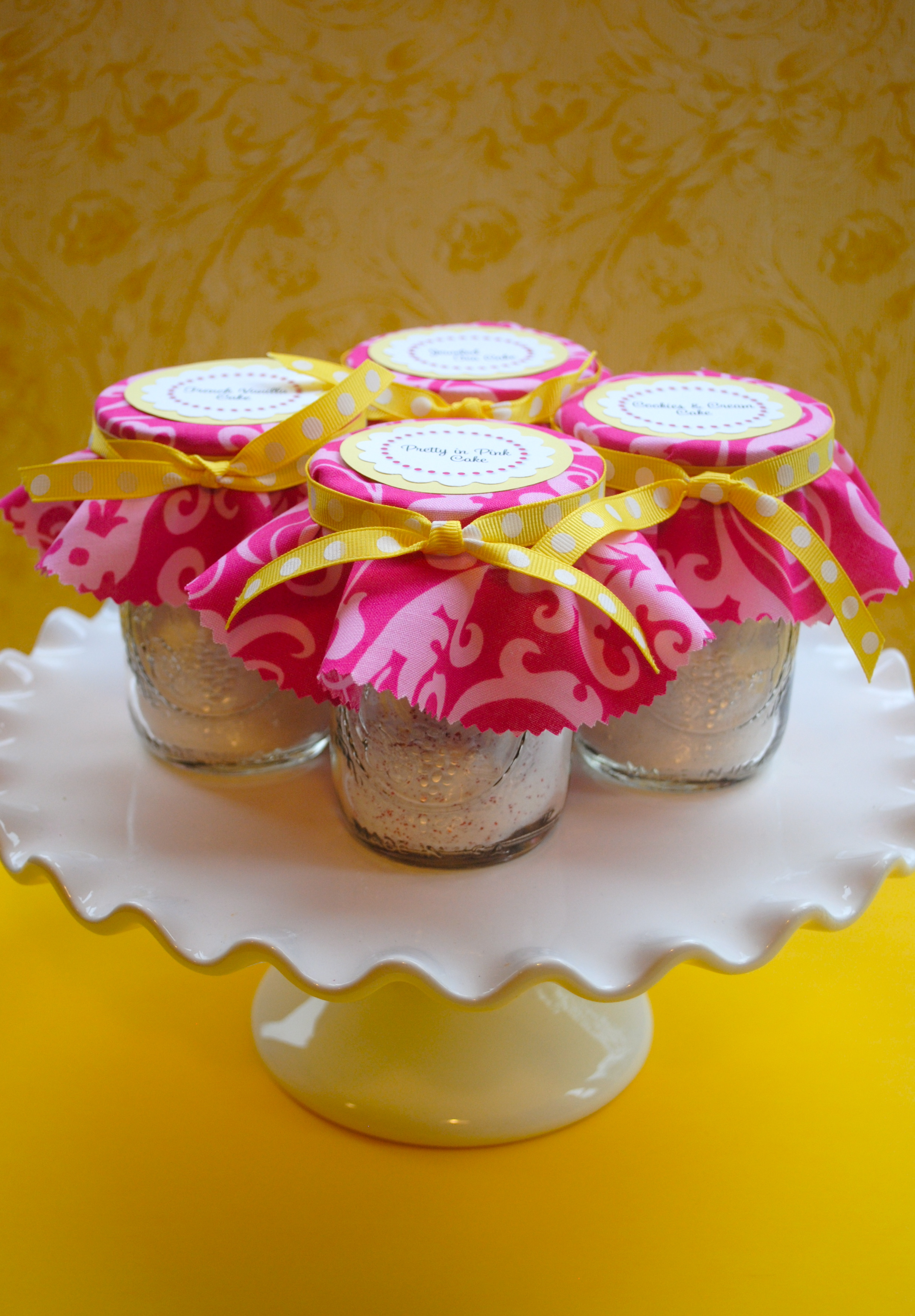Home Made Easy Bake Oven Cake Mix Mason Jar Packaging The Party Teacher