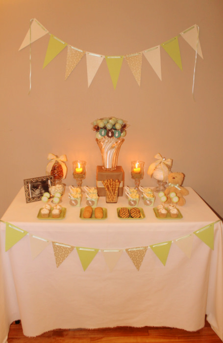 Guest party mint and teal gender reveal party double the fun